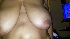 Church elder is robe is sliding off she doesn't be aware she is acquiring filmed acquiring her huge tits bounced