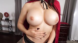 Hot MILF with reference to amazing huge tits blows hard unearth