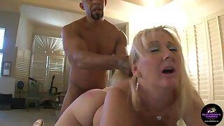 GILF Kayla Enjoys A Fat BLACK COCK Creampie