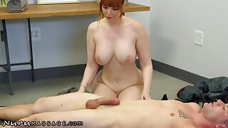 Hardcore Massage Thirsty Redhead MILF Lauren Phillips Wants Will not hear of Step-son's Dick So Bad