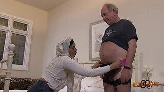 Arab MILF Sahara Knite and Old Fat Wanker