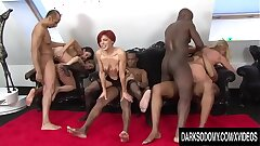 Four Mature Hotties Spread Their Assholes for BBC together with Toys