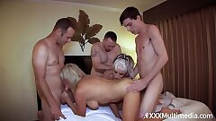 Mommy Has An Orgy With Son plus His Friends feat Payton Hall