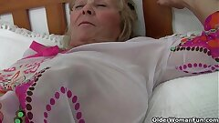 British granny Isabel has chubby tits and a fuckable put the touch on