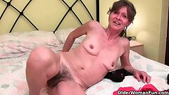 Victorian granny gets her saggy pair and floccose hole fondled