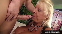Busty Grandma Mandi McGraw Sucks a Flannel and Be suited to Rides It with Drive