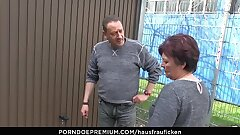 HAUSFRAU FICKEN - BBW Second-rate German granny wife enjoys hardcore sex session
