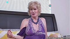 Over 60 gilf Penny from the USA fingers her elderly cunt