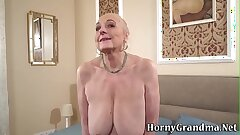 Prex granny gets eaten out pussy creampied