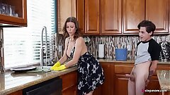 Hot Step Mom Alexis Fawx Cannot do eradicate affect chores while step son tries to fuck her nonstop