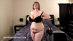 Big tits BBW Cougar on an obstacle prowl fucks her son in law