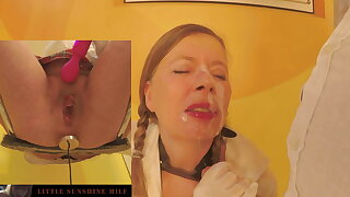 Huge load of cum in mouth and characteristic of along to Little Full view MILF