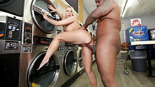 MILF Katie Morgan Takes Parasynthetic Loads At The Laundromat