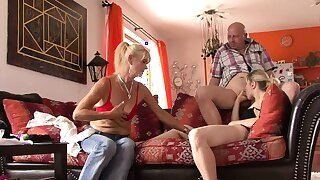 Old mother and dad cosy along her into sex
