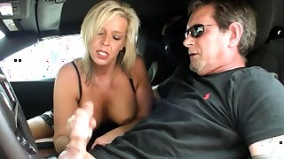 Honry MILF Carey Riley loves to zeal stick shift, but when