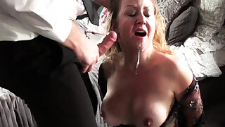 Throated milf sit down squirts