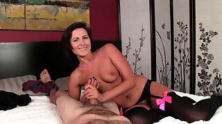 INCESSANT Cock twit handjob from This Older MILF