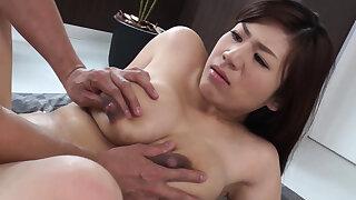 Busty housewife, Satomi Katayama got nailed, chock-full