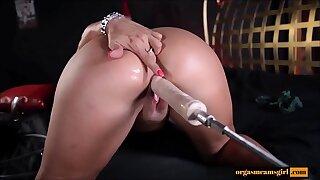 Milf fucking by sex machine - Await more on orgasmcamsgirl.com