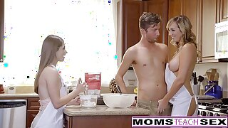 MomsTeachSex - Scalding Mom Manoeuvres Teen Into Hot Threeway