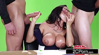 Big News On The Boob Tube - Hot MILF Ariella Ferrera Fucks On Camera