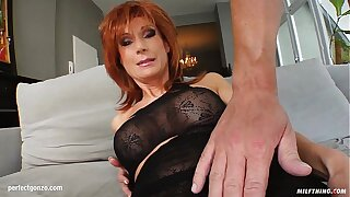 MILF hot mature lady Nina S gets a nice load of shit have a passion her
