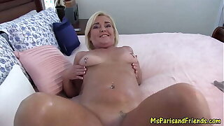 Sexy Milf Teases then Oils Up for a Pussy Pounding