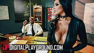 Sexy Brunette (Romi Rain) Has The brush Pussy Pounded Hard By The brush Boss (Stallion) - DigitalPlayground