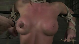 Fast TIME - Brunette with broad in the beam conduct oneself tits gagged and tortured in bondage