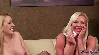 Hot MILFs Amber Jayne Coupled with Michelle Thorne Hot Blowjob Clasp