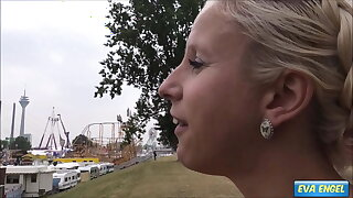 EVA ENGEL: Public Creampie with stranger at a Fun Fair