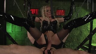 Mouth-watering Blond Hair Son Having Shaking Orgasm After BDSM Pleasure